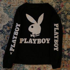 Rare Playboy Black Pullover Sweatshirt Size Medium